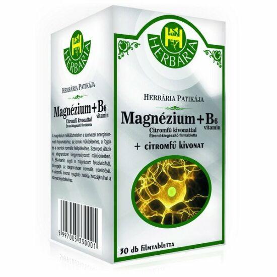 Herbária Magnézium + B6-vitamin + citromfű filmtabletta 30x