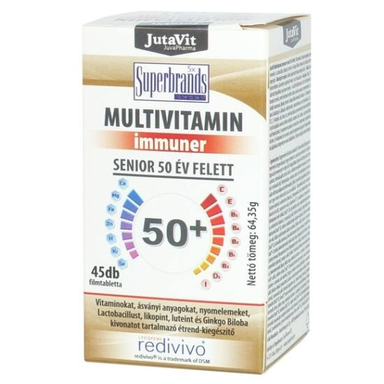 Jutavit Multivitamin Senior filmtabletta 50+ 45 db