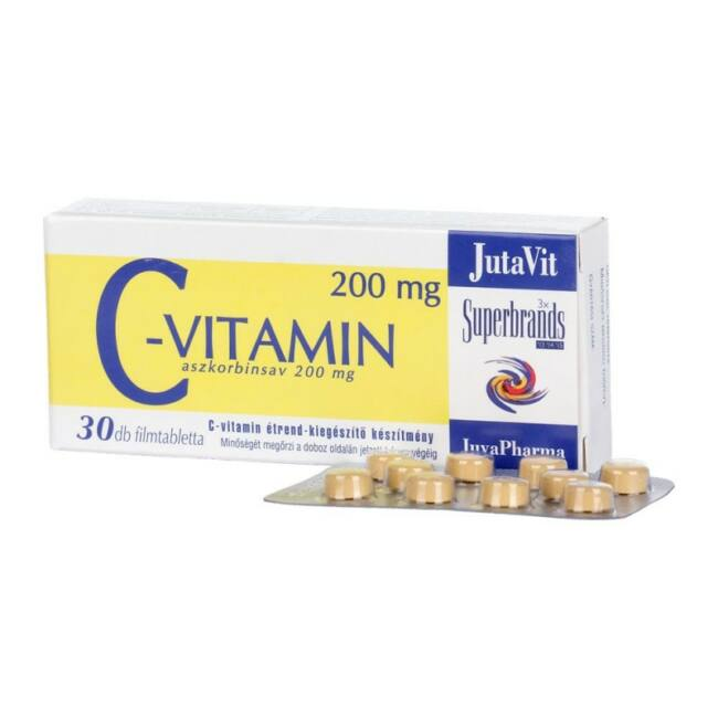 Jutavit C-vitamin 200mg tabletta 30x