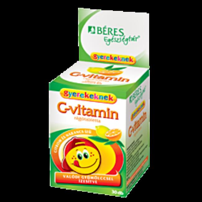 Béres C-vitamin rágótabletta gyerekeknek 30x