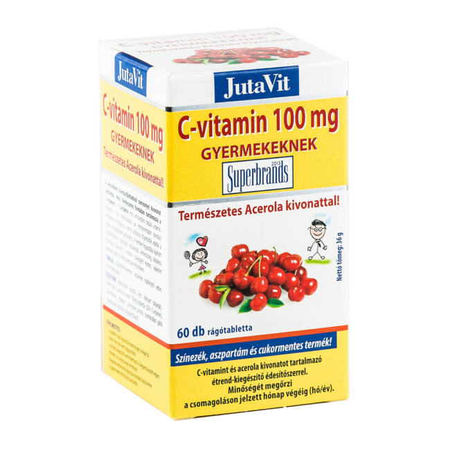 Jutavit C-vitamin 100 mg tabletta acerola gyermek 60x
