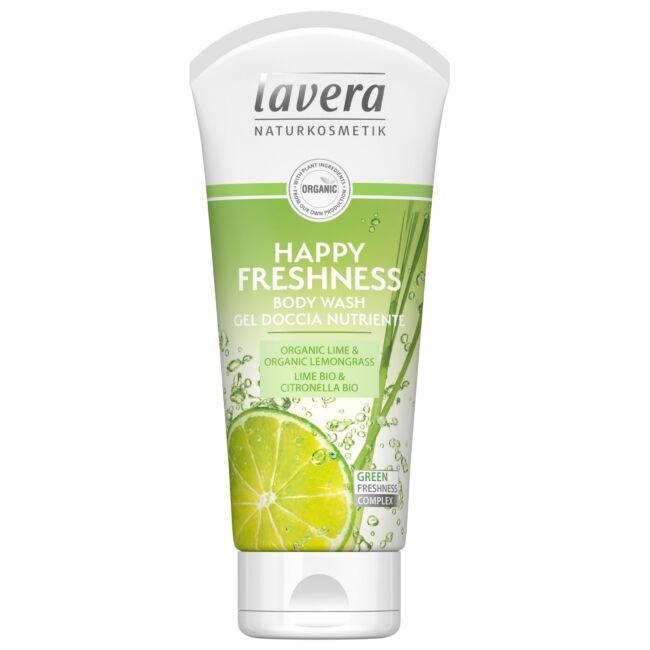 Lavera-tusfurdo-Happy-Freshness-lime-citromfu-VEGAN-200ml