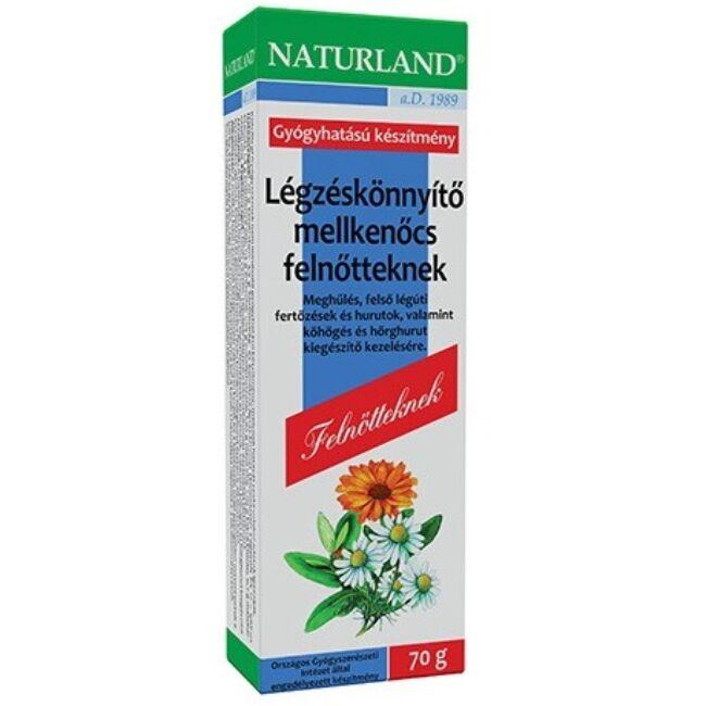 Naturland Légzéskönnyítő Mellkenőcs Felnőtt 70g