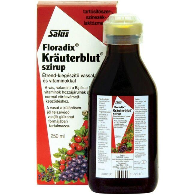 Floradix Kräuterblut szirup vassal és vitaminokkal 250 ml
