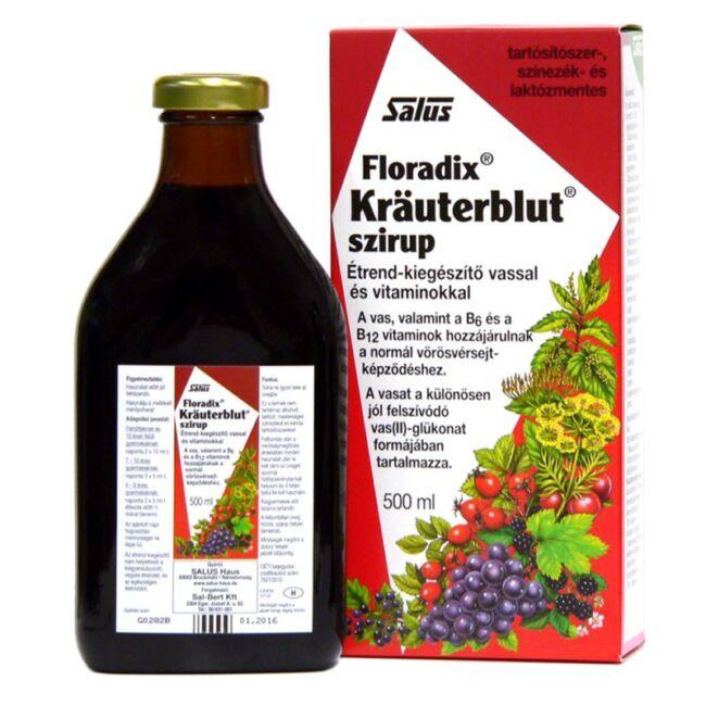 Floradix Kräuterblut szirup vassal és vitaminokkal 500 ml